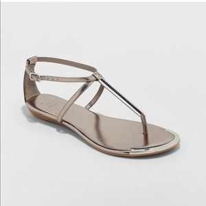 A New Day Archer T Strap Thong Sandals